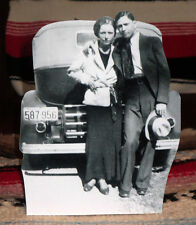 """Bonnie and Clyde-Bonnie Parker & Clyde Barrow Gangster Tabletop Standee 8.5"""" T"""