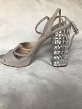 MICHAEL KORS HIGH HEELS SILVER SANDALS SIZE 9 NEW WITHOUT BOX