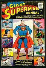 Giant Superman Annual #1 (1960) Very Good Minus VG- Graded ~ DC Comics