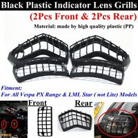 4Pcs Plastic Turn Signal Light Indicator Lens Grills Guard Fits Vespa PX Range