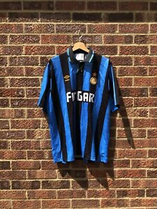 INTER MILAN 1991/1992 HOME FOOTBALL SHIRT - LARGE
