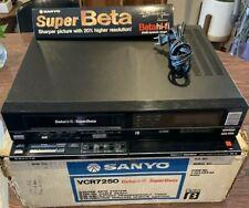New ListingSanyo 7250 Beta HiFi/Super Beta Vcr Refurbished and Fully Restored 30 Day Wnty