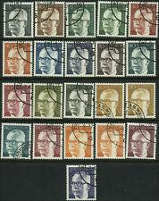 Germany Scott #1028 - #1044 Complete Set of 21 Used