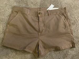 NEW w/tags! AMERICAN EAGLE Khaki Chino Shorts for Women Ladies Stretch Size 20