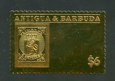 ANTIGUA GOLD FOIL STAMP ON STAMP NORWAY MINT NH OFFICIAL ISSUE#59