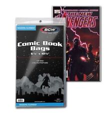 """(200) BCW Current Modern Size Comic Book Bags Acid Free 6 7/8"""" x 10 1/2"""""""