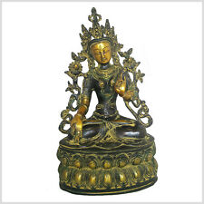 Weiße Tara 37cm 3,7KG Sitatara Buddha Art Antik Messing Tibet Nepal Indien