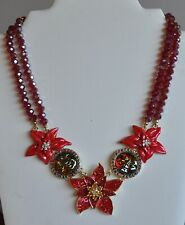Poinsettia Necklace In Gold Tone Kirks Folly Seaview Water Moon
