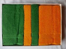 4-tl. GESCHENK-SET:2 Handtücher+2 Gästehandtücher*SOLFINA*-Farbe:orange+grün~NEU