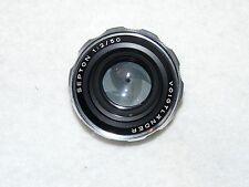 Vintage Camera Lens Voigtlander Septon 50mm f/2