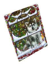 Please Come Home Alaskan Malamute Dog Tempered Cutting Board Large Db235