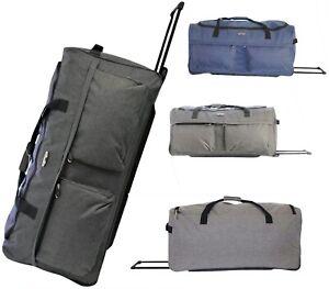 Extra Large XXL Folding Wheeled Holdall Luggage Travel Sports Weekend Carry Bag