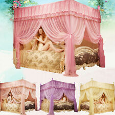 Home 4 Corner Bed Canopy Mosquito Nets Queen King California King Size Netting