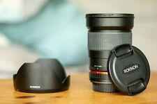 Used Rokinon 35mm f/1.4 Full Frame wide-angle Prime Lens