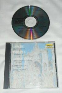 FAURE - DURUFLE: Requiem CD 1990 Telarc BMG DIRECT CD Robert Shaw