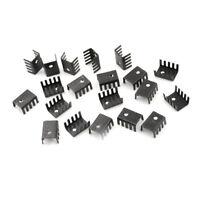 20PCS TO-220 Heat Sink Black TO220 20x13x9mm IC Heat Sink Aluminum NTZY