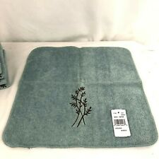 Avanti Laguna Washcloths Set Of 5 New Blue Green Embroidered Mineral