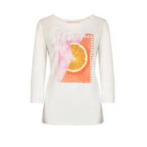 """Lieblingsstück T-Shirt 3/4 Arm RH Frontmotiv """"Sun"""" Offwhite Mode NEU"""