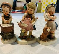 VINTAGE NAPCO 3 LOT MADE IN JAPAN CERAMIC FIGURINE BEAUTIFULLY MADE FIGURE 5.5""