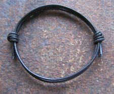ECHT LEDER armband Schwarz lederarmband wickel VINTAGE