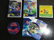 Nintendo Wii Games Bundle - Super Mario Bros, Mario Galaxy 1 & 2 & Bonus DVD