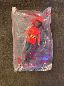 New 2019 McDonalds Happy Meal Toy #6 Barbie Firefighter Sealed Cake Top Collect!