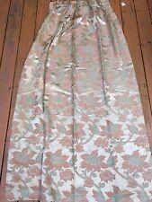 2 Pr. Vintage Art Deco CURTAINS Heavy Iridescent Jacquard Floral Weave