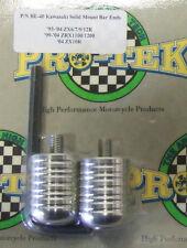 Pro Tek Motorcycle Bar End Weight BE-40 SILVER Kawasaki Ninja 250 500 600 KLR650