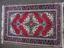 """Vintage handmade oriental small rug 41"""" x 27.5"""""""