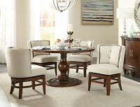 NEW Transitional Cherry Brown Dining Room 5 pieces Round Table & Chairs Set IC5A