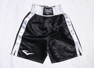 Everlast men's large black white boxing shorts