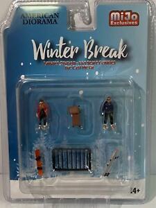 Winter Break 1:64 Scale Metal Figures American Diorama 76462