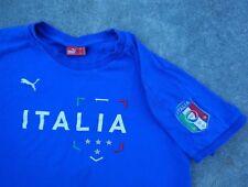 Italia Puma Blue Shirt T-Shirt Football World Cup Size M Italy