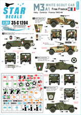 Star Decals 1/35 M3A1 WHITE SCOUT CAR Free French Italy & France 1943-1944