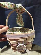 2000 Small Easter Basket w/Pink Longaberger Basket