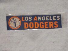 **RARE**LATE 1950s LOS ANGELES DODGERS  BUMPER STICKER w/VINTAGE DODGERS LOGO