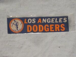 **RARE**LATE 1950s LOS ANGELES DODGERS  BUMPER STICKER w/VINTAGE DODGERS LOGO
