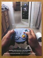 Nintendo Gamecube WAVEBIRD Vintage Print Ad/Poster Official Controller Promo Art