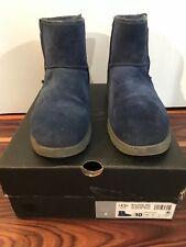 UGG Mini Zip Waterroof Boots Denim Blue Mens10 fits 9, 9.5