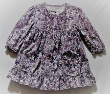 Mayoral Boutique Lined Ruffle Purple Floral Long Sleeve Dress, 98 (US 3T)