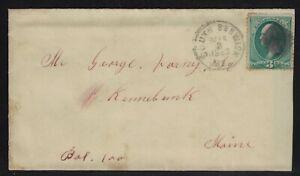 Usa: 1883; cover Scott 136, South Berwick to Maine, EBN198
