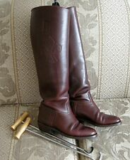Argentine Mahogany Leather Traditional English Polo Tall Riding Boots Ladies 7