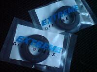 Honda CBR 125 Dust seals for rear wheel & sprocket bearings  CBR125  2004 - 2010