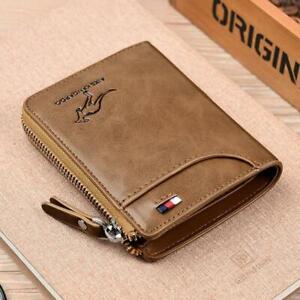 AIKSkangaroo Anti-theft Credit Card Bag Anti-magnetic Wallet For Men PU Leather