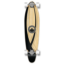 Yocaher Kicktail Crest Onyx Longboard Complete