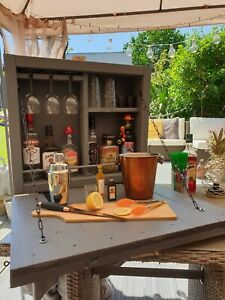 Handmade Outdoor Garden Wall Mounted Drinks/Gin/Cocktail Bar With Bottle Opener.