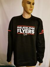 Philadelphia Flyers Player Crew Long Sleeve NHL Hockey Mens Size XL Black New