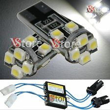 2 Lampade T10 LED 8 SMD 3528 Canbus BIANCO Luci No Errore CDB + 2 RESISTENZE