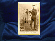 Classic Penny Farthing Bicycle Cabinet Card Photograph Vintage CDV RP