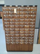 72 Drawer Card Catalog Wood File Cabinet Library Index